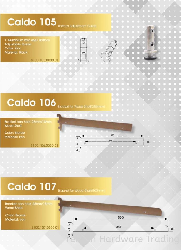 CALDO 8100 SERIES CLOSET SYSTEM- 105,106,107 8100 SERIES CALDO CLOSET SYSTEM Lufi Wardrobe Series