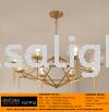 Chandelier Gold Series 8 Light Bulb CHANDELIER