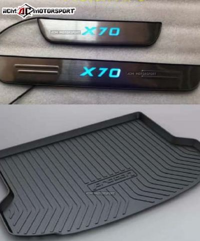 Proton X70 Door step LED/Boot Tray