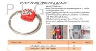 SAFETY ADJUSTABLE CABLE LOCKOUT Lockout System Oil & Gas