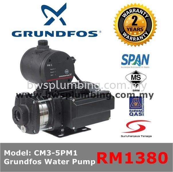 Grundfos Water Pump CM3-5PM1 Grundfos Water Pressure Pump
