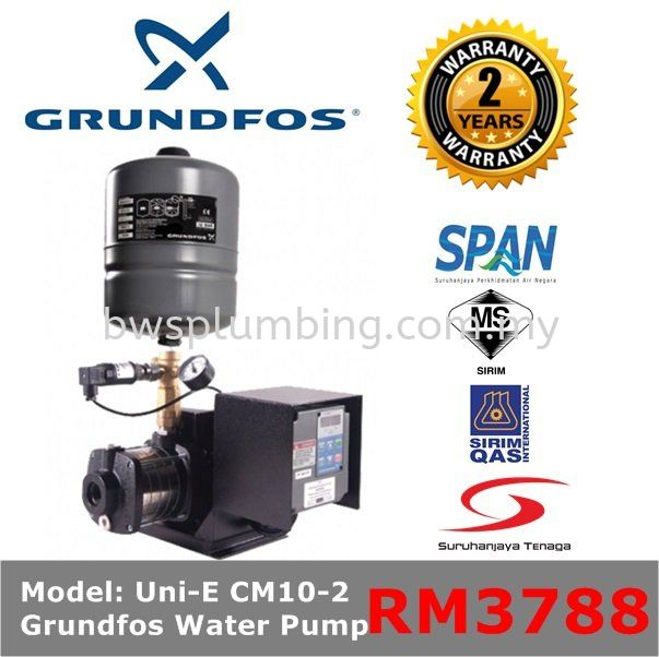Grundfos UNI-E CM10-2 Variable Speed Water Pressure Booster Pump  Grundfos Water Pressure Pump