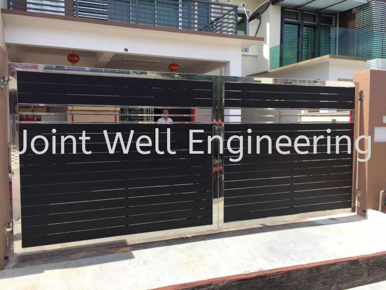 Steel Design Main Gate Open Gate Stainless Steel Main Gate