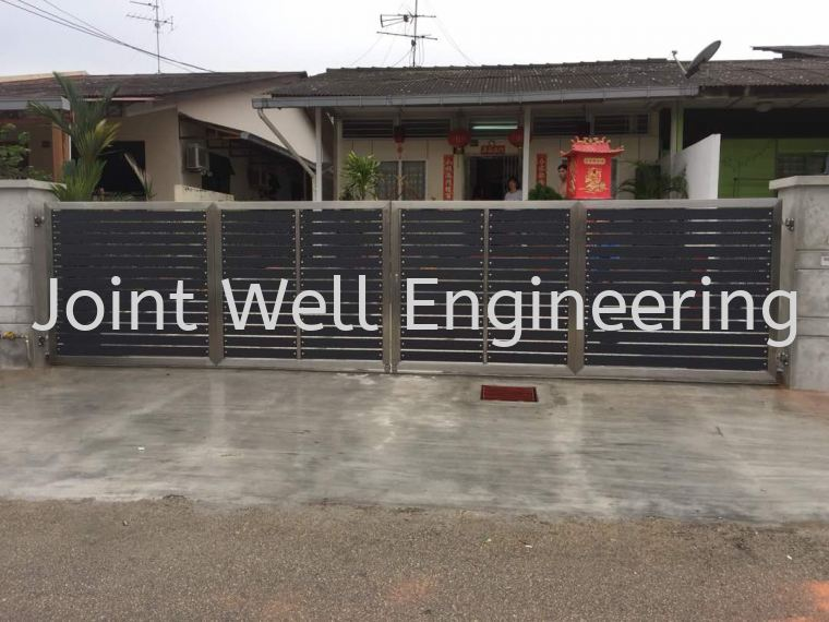 Steel Design Main Gate Folding Gate Stainless Steel Main Gate