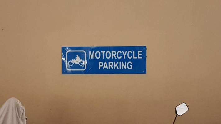 Carpark sign