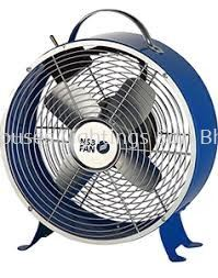 "NSB CLOCK TABLE FAN 8""/DARK BLUE"