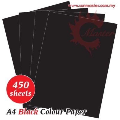 A4 Colour Paper - Black