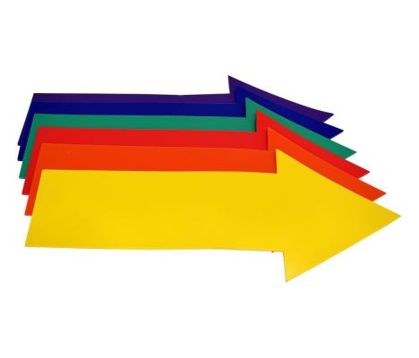 XYS088 Straight Arrow Floor Marker (6/set)