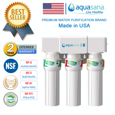 [ NEW PRODUCT ] AQUASANA AQ-5300+ Water Filter Water Purifier Filter, Made In USA (4 NSF Approved, 2