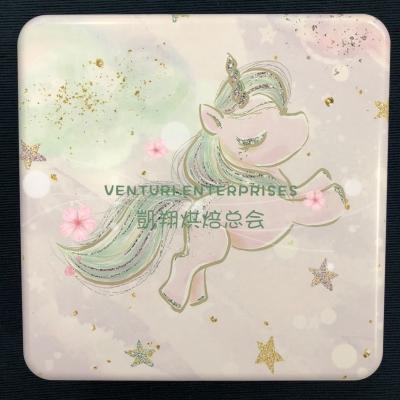 Alum Square Tin - Pony