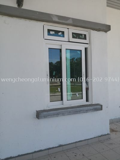 Performance Sliding Window With Top Hung Window (Laminated Light Green Glass)