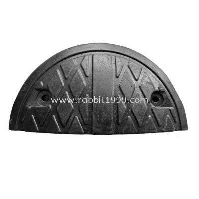 RUBBER SPEED HUMP - black - end piece