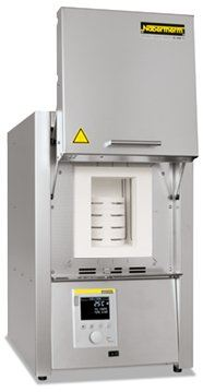 High temperature chamber furnace with MoSi Heating elements as table top model up to 1800��C