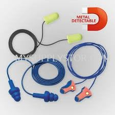 Earplug Corded Metal Detectable