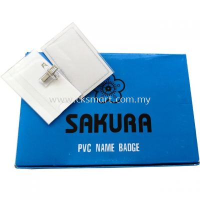 SAKURA PVC NAME BADGE