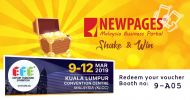 EFE x NEWPAGES SHAKE N WIN @ KLCC 9-12 March. Today!