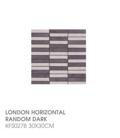 London Horizontal Random Dark KFS027B