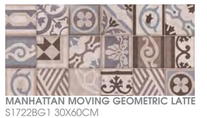 Manhattan Moving Geometric Latte S1722BG1