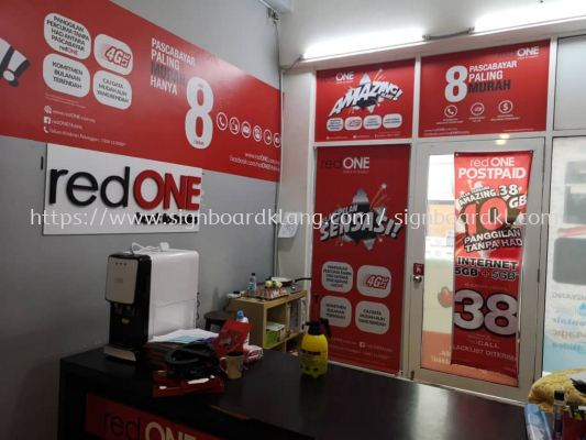 red one network sdn bhd inkjet wall sticker
