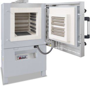 Professional chamber furnaces with brick insulation or fibre insulation up to 1400��C