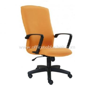 FIGHTER STANDARD HIGH BACK FABRIC CHAIR WITH POLYPROPYLENE BAS