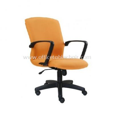 FIGHTER STANDARD LOW BACK FABRIC CHAIR WITH POLYPROPYLENE BASE