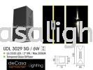 OUTDOOR WALL LIGHT UDL 3029 SG 6W Led Effect Wall Light OUTDOOR LIGHT
