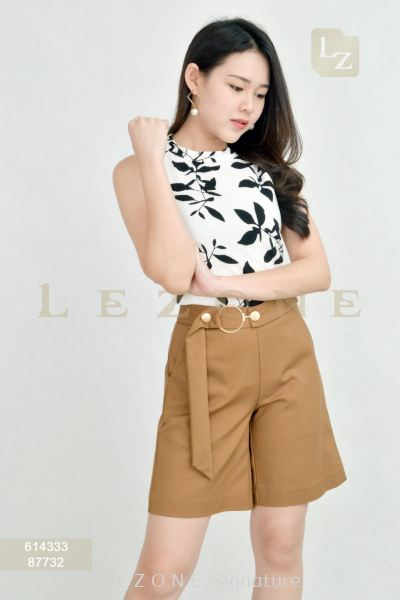 87732 WAIST DETAIL HALF PANTS��1ST 10% 2ND 15% 3RD 20%��