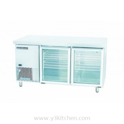 Modelux Glass 2 Door Counter Chiller 1200
