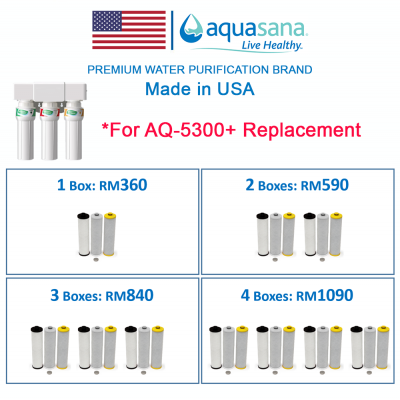 AQUASANA AQ-5300+R Replacement Cartridge (For Aquasana AQ-5300+ Water Filter Water Purifier System,