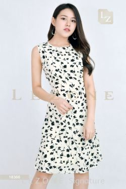 18366 FLORAL A-LINE DRESS【1ST 40% 2ND 50%】