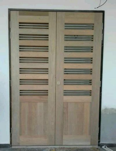 Wooden Holo Stainless Steel Door