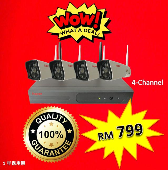 Haper 720p 1.0MP 4-CH Wi-Fi Kit Wi-Fi Product (Wi-Fi Kit & IPcam) Johor Bahru (JB), Malaysia, Masai, Skudai Supplier, Wholesaler, Supply, Supplies | Celtech Technology Sdn Bhd