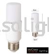 ECO LED STICK BULB - E27 - 10W - COOL WHITE LED STICK BULB BULB / MENTOL