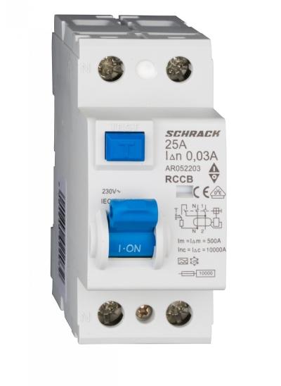 Residual current circuit breaker AMPARO series, 2 pole