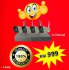 Haper 1080p 2.0MP 4-CH Wi-Fi Kit Wi-Fi Product (Wi-Fi Kit & IPcam)