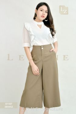 384452 SIDE BUTTON DETAIL CULOTTES【ONLINE EXCLUSIVE 35%】