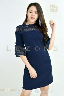 81146 BELL SLEEVE LACE DRESS【BUY 2 FREE 3】