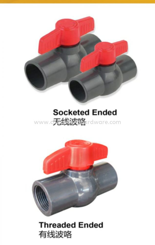 pvc  mini ball valve 15MM