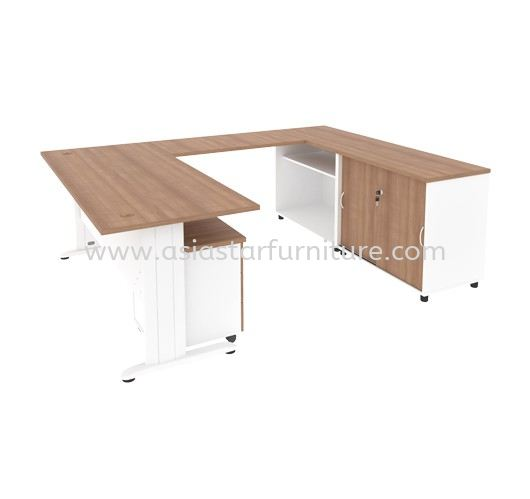 MJ 88 (R) EXECUTIVE TABLE WITH CABINET