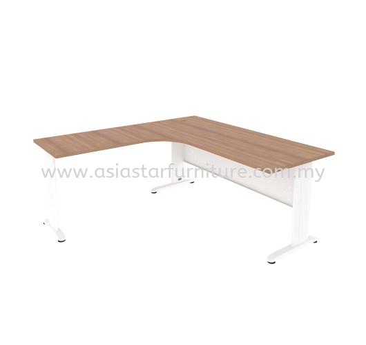 JOY L-SHAPE OFFICE TABLE METAL J-LEG C/W STEEL MODESTY PANEL MJML-8756 (L) - l shape table/desk Oasis damansara | l shape table/desk Ara Damansara