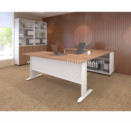 MJ 88 (L) EXECUTIVE TABLE WITH CABINET
