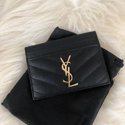Brand New YSL Cardholder in Black with GHW