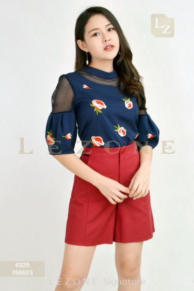6925 EMBROIDERED FLORAL BLOUSE