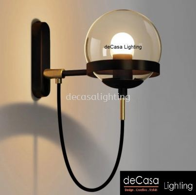 MODERN GLASS DESIGNER WALL LIGHT BLACK - PCL-2018-1