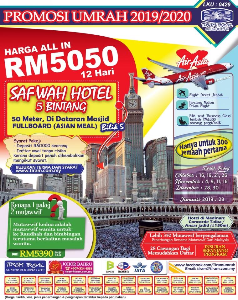 PROMOSI UMRAH RM5050 OKT 2019 - JAN 2020