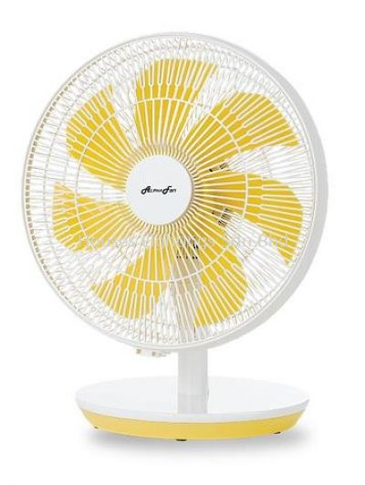 "ALPHA VONA(TBF/12-AC) TABLE FAN/YELLOW(12"")"