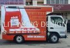 Inkjet Sticker on Vehicle (Lorry) Lorry Sticker Sticker