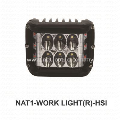 LED WORK LIGHT 12V-80V RED