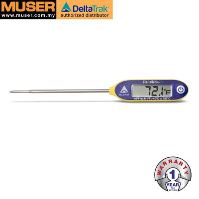 DeltaTrak 11061 | FlashCheck® Auto-Cal Waterproof Industrial Digital Probe Thermometer
